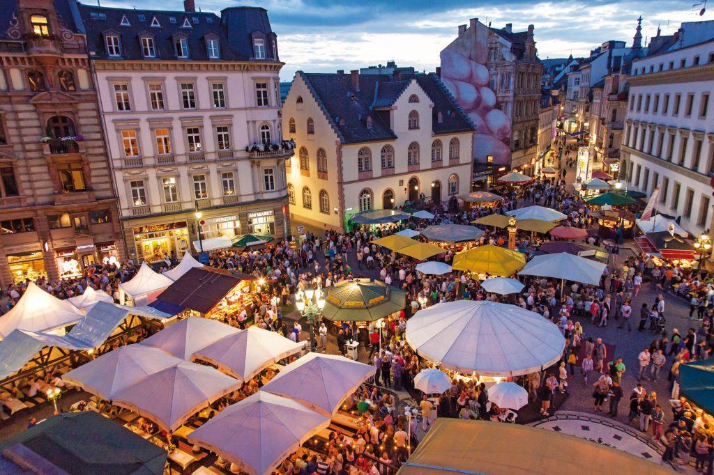 Rheingau Wine Festival, Frankfurt, Germany