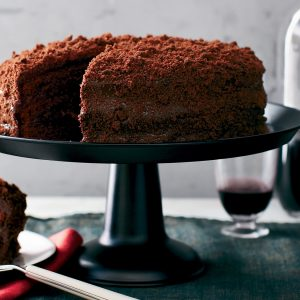 his Red Wine Chocolate Cake Is Valentine's Day Dessert Perfection.