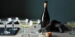 Coupe glass for sparkling wine